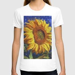 Sunflower In Van Gogh Style T-shirt