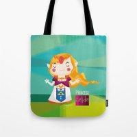 zelda Tote Bags featuring Zelda by suupergirl