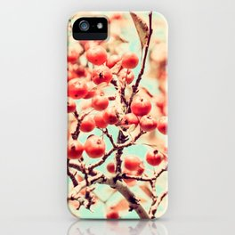 Botanical Malus, Crabapple Wild Apple Ripe Fruit on Tree Vintagely iPhone Case