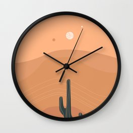 Sinuous Heat Waves & Solitude Wall Clock