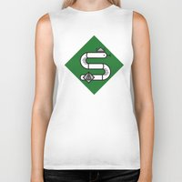 slytherin Biker Tanks featuring Slytherin House Crest by Manuja Waldia