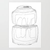 coke Art Prints featuring Coke by reunion beautiful island