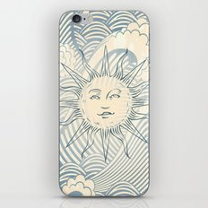 Sun sitting amongst the ocean iPhone & iPod Skin