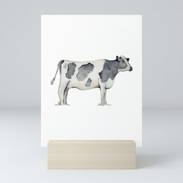 Cow, Watercolor Painting, Rustic Farmhouse Mini Art Print