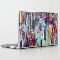 "flora bowley Laptop & iPad Skins featuring ""Muse Dance"" Original Painting by Flora Bowley by Flora Bowley"