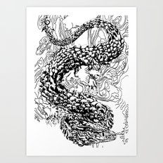 A Dragon from your Subconscious Mind Art Print