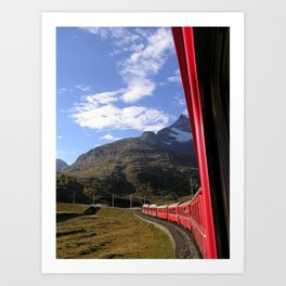 View from the Bernina Express Art Print
