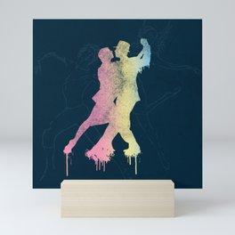 Dancing in the rain Mini Art Print