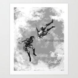 YC Falling Art Print