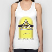 minions Tank Tops featuring Minions Illuminati by Vincent Trinidad