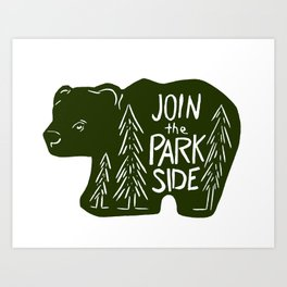Join the Park Side Bear Art Print