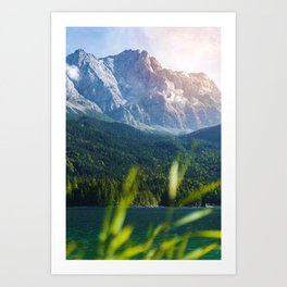 Grass Mountain View (Color) Art Print