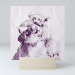 Happy Mother's Day - Lemur - maki catta Mini Art Print