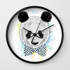 Hello Panda Wall Clock