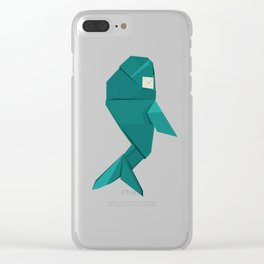 Origami Whale Clear iPhone Case