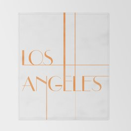 Los Angeles Deco Print Throw Blanket