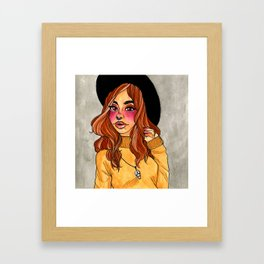Fall Witch Framed Art Print