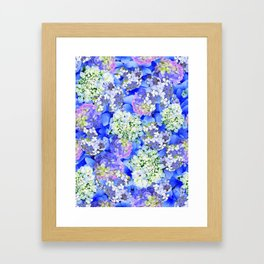 Billowing Blush in Blue Framed Art Print