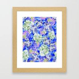 Billowing Blush in Blue Framed Art Print