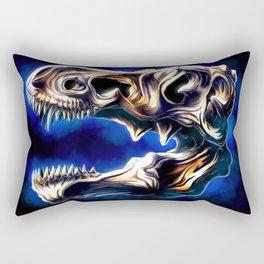 T Rex skull Rectangular Pillow