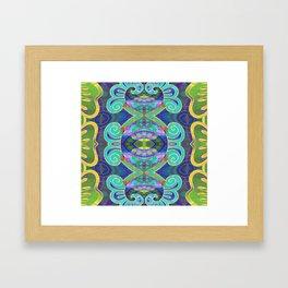 Boujee Boho Cooling Medallion Framed Art Print