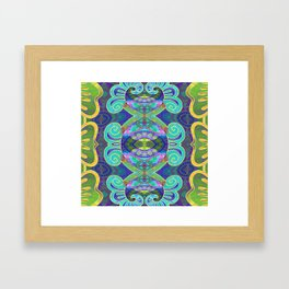 Boujee Boho Cooling Medallion Framed Art Print
