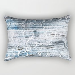 Columbia Blue abstract watercolor Rectangular Pillow