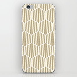 Modern Geometric Honeycomb Leaves iPhone Skin