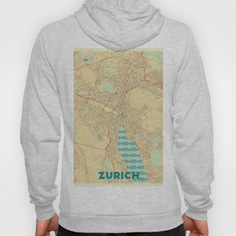 Zurich Map Retro Hoody