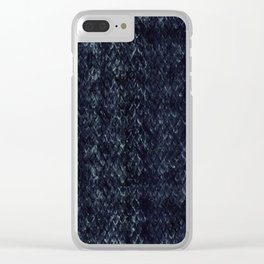 Black Snakeskin Clear iPhone Case