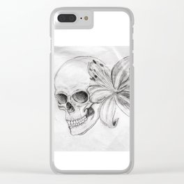 Skullgazer Lily Clear iPhone Case