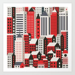 Urban city Art Print