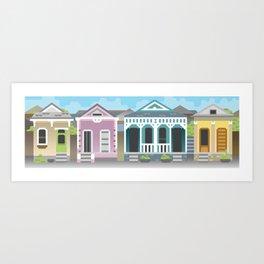 New Orleans Houses Art Print