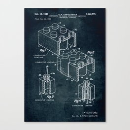 1966 - Components for making structures comprising electrical circuits Canvas Print