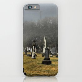New Melleray Abbey Graveyard, Peosta, Iowa iPhone Case