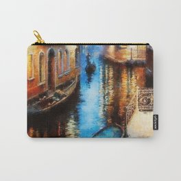 Venice Canal Digital Oil Painting Carry-All Pouch
