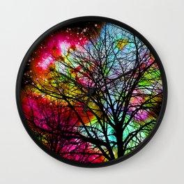 Rainbow Tree Wall Clock