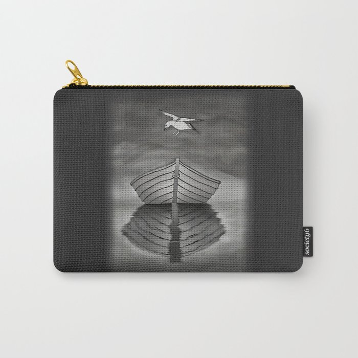 Harbor Reflection - Seagull and Tender Carry-All Pouch