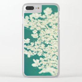 Queen Anne's Lace // Turquoise Clear iPhone Case