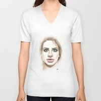 lana V-neck T-shirts featuring Lana  by Ami Leigh Barrett