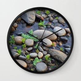 River Stone Garden Wall Clock