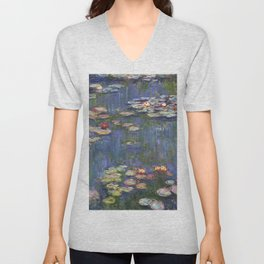 1916-Claude Monet-Waterlilies-200 x 200 Unisex V-Neck