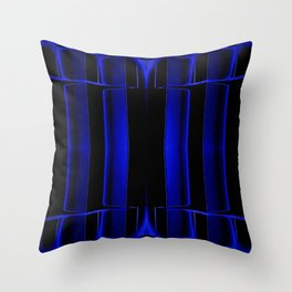 Playing in Blue Throw Pillow