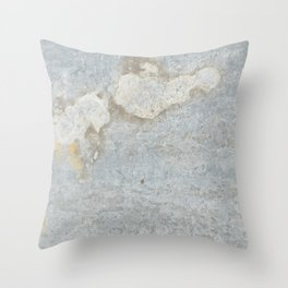 Blueish, rusty and old steel texture Throw Pillow