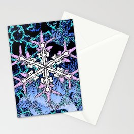 GRAPHIC WINTER SNOWFLAKE PEN & INK DRAWING Stationery Cards