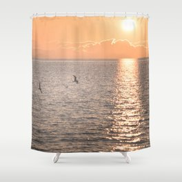 Asymmetrical Glow Shower Curtain