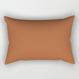 Clay Solid Deep Rich Rust Terracotta Colour Rectangular Pillow