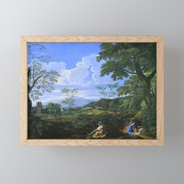Nicolas Poussin - Landscape with a Woman Washing her Feet Framed Mini Art Print