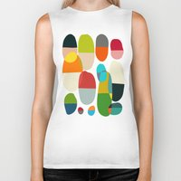 pills Biker Tanks featuring Jagged little pills by Picomodi