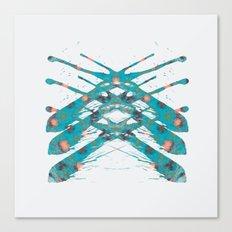 Inkdala IX - Blue Rorschach Art Canvas Print
